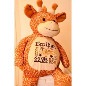 Giraffe - Stofftier individuelles Geburtsgeschenk
