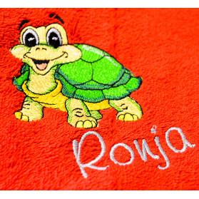 Handtuch - Strandtuch - Badetuch - bestickt mit Schíldkröte und Wunschname