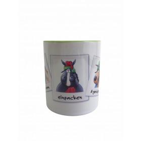 """Tasse Kugelrösser """"Weihnachtszeit 1"""" zweifarbig"""