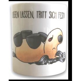 """Tasse Kugelrösser """"Schlafend"""" weiß"""