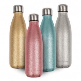 Edelstahl-Thermoflasche 500 ml mit SPARK-Oberfläche doppelwandig mit Schraubverschluss