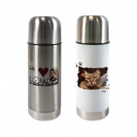 Edelstahl-Thermoflasche 350 ml doppelwandig mit Schraubverschluss