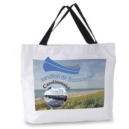Sublistar® Strandtasche mit schwarzem Henkel und Bodenfalte