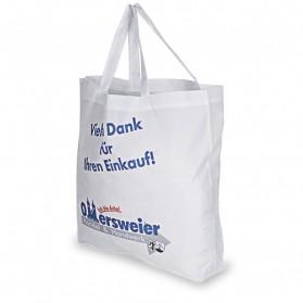 Sublistar® Einkaufstasche weiß mit Henkel, Boden breit