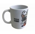 """Tasse Kugelrösser """"Gemeinsam Stark"""" weiß"""