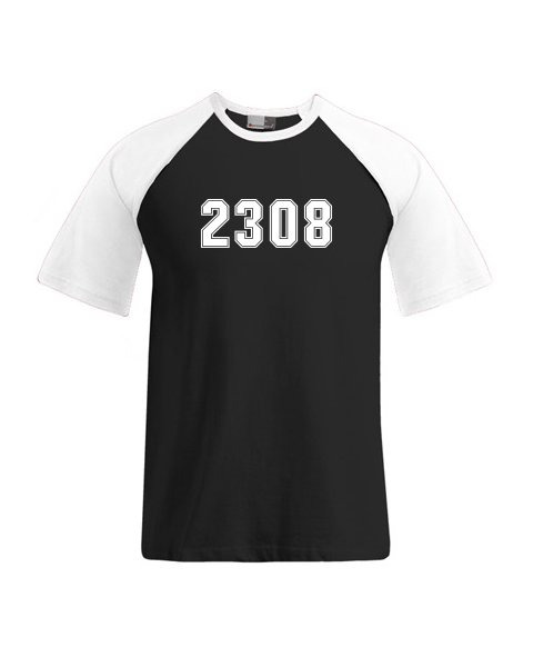 T-Shirt mehrfarbig schwarz...
